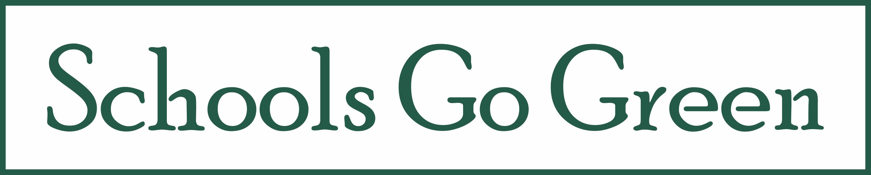 Schools Go Green